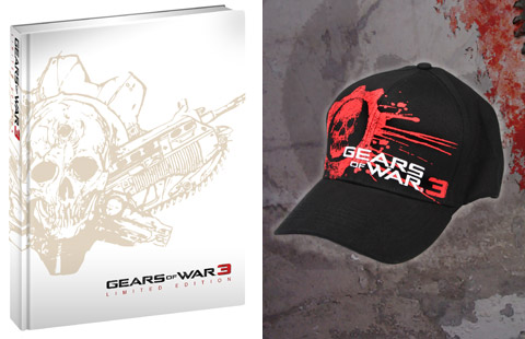 Gears of War 3 strategy guide and hat