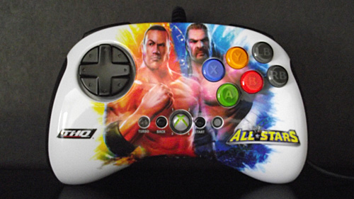 BrawlPad controller featuring The Rock and Triple H