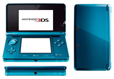 Aqua Blue Nintendo 3DS