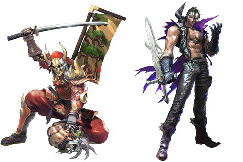 Yoshimitsu and Z.W.E.I. from SoulCalibur V