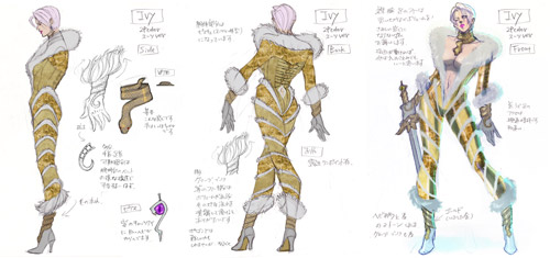 Ivy concept art from SoulCalibur V