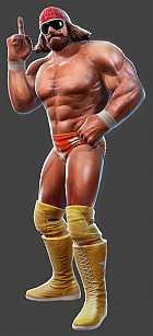 Macho Man Randy Savage, as seen in WWE All Stars