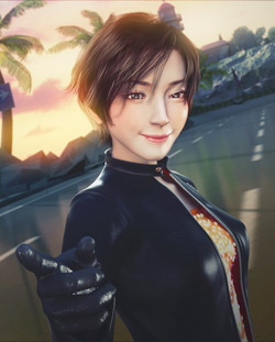 Reiko Nagase artwork from ridge Racer 3D