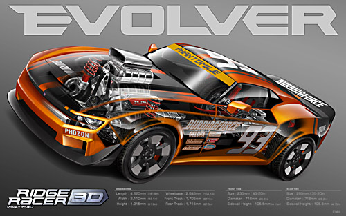 Evolver artwork for Ridge Racer 3D
