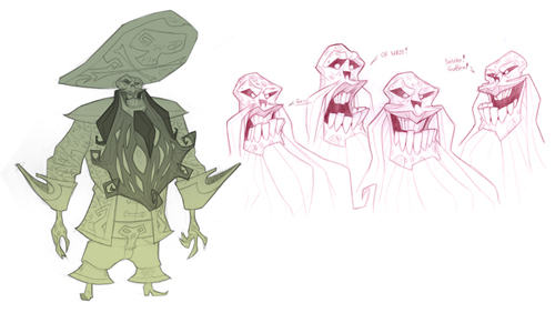 LeChuck concept art from Tales of Monkey Island