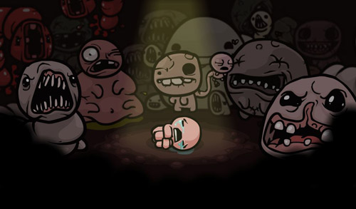 A scene from The Binding of Isaac
