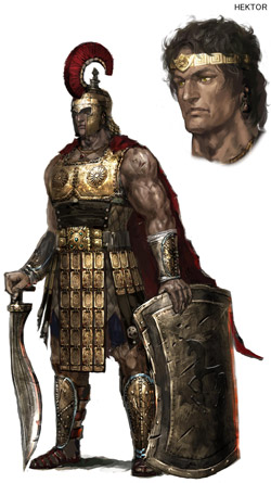 Hektor concept art from Warriors: legends of Troy