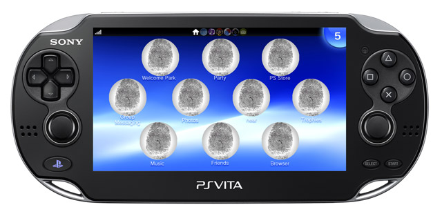 Vita with fingerprints replacing app icons