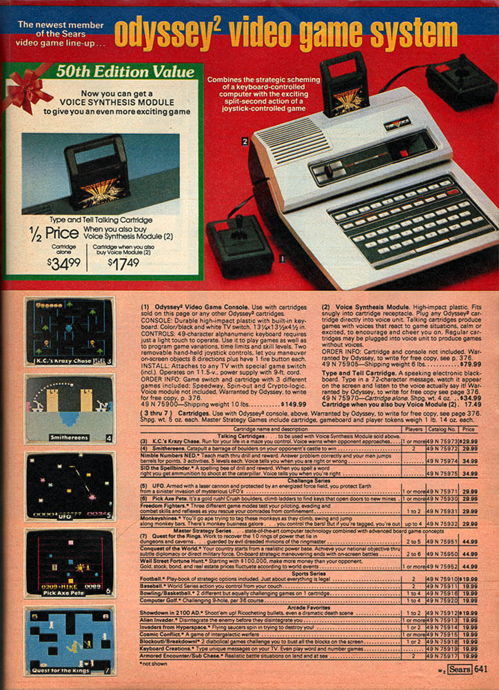 Collectibles - Print Ads! - The Odyssey² Homepage!